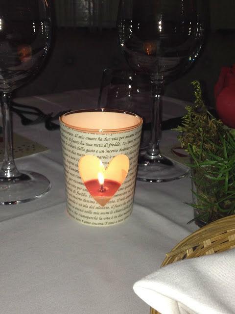 Mise en place San Valentino. Particolare candela