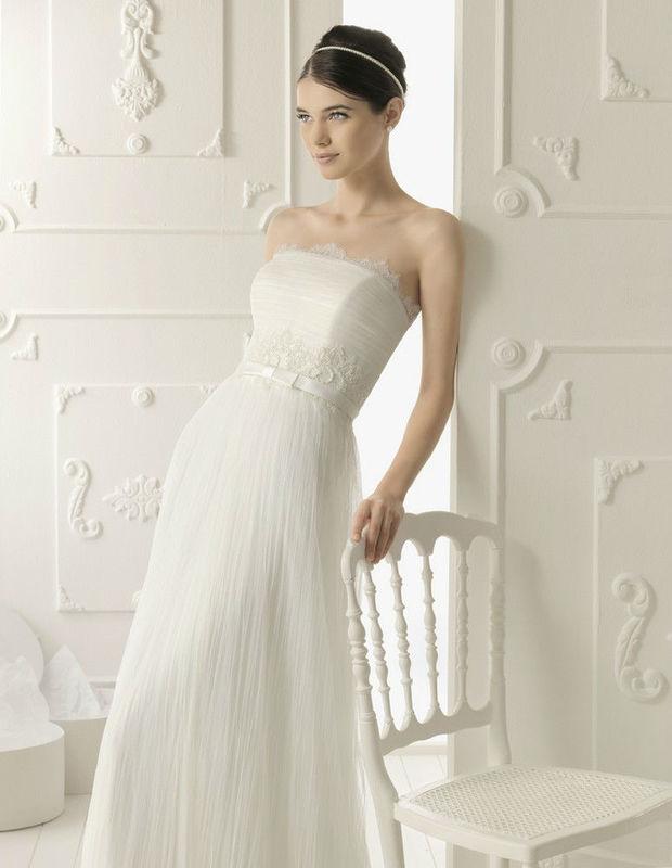 Beispiel: Elegantes Brautkleid, Foto: Da Vinci.