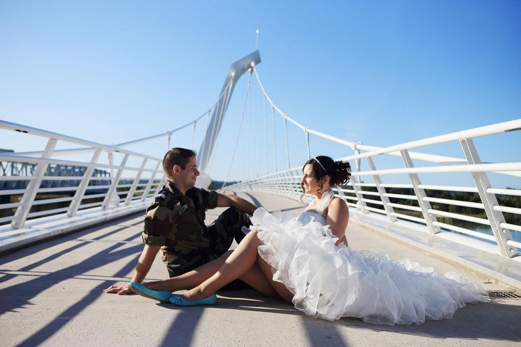 photo de couple prise après le mariage