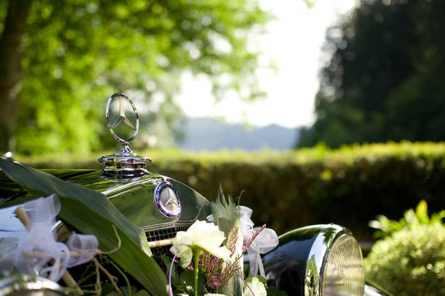 Beispiel: Hochzeitsauto, Foto: Waldrestaurant St. Ottilien.