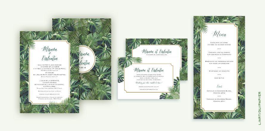 Faire-part Mariage - Jungle Tropical