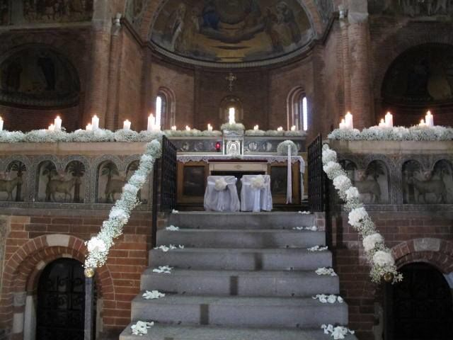 decorazione classica romantica total white