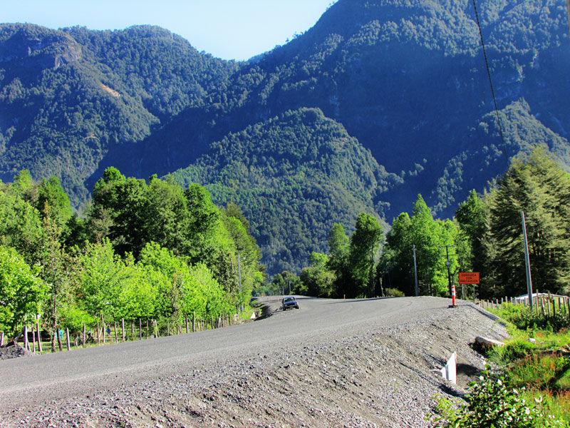 Cabañas entre montañas. Coñaripe