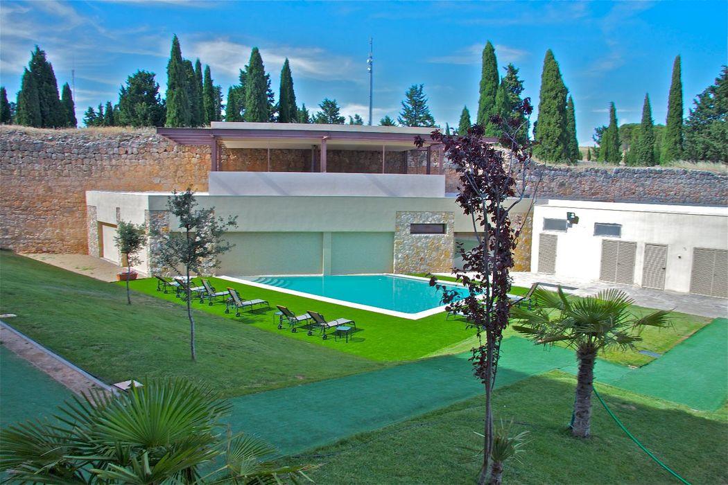 Nuestro jardín-piscina