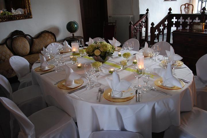 Beispiel: Hochzeitstisch, Foto: Burg Abenberg.