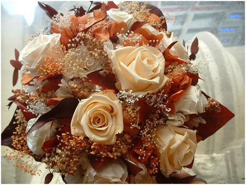 Rosas porcelana y melocotón
