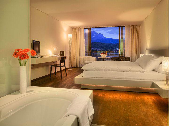 Beispiel: Hotelzimmer, Foto: Seehotel Hermitage.