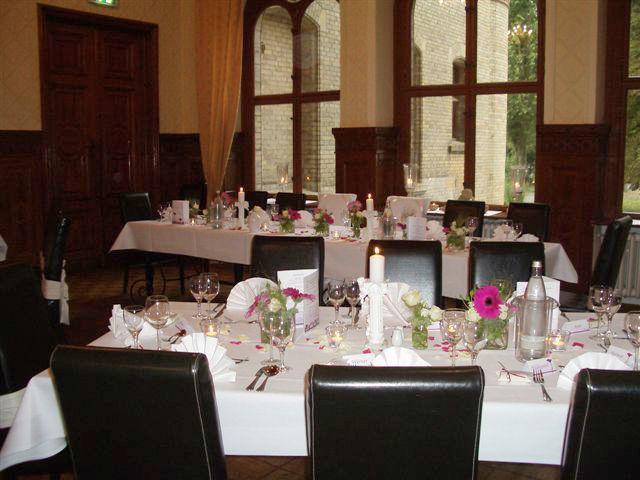 Beispiel: Hochzeitstafel, Foto: Schloss Neetzow.