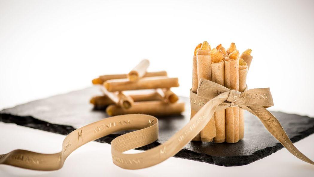 Cigares croustillants au foie gras