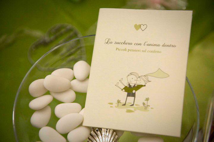 Libricino sulla storia del Confetto edito da Yes wedding planner. Scritto da Priscilla Costantini