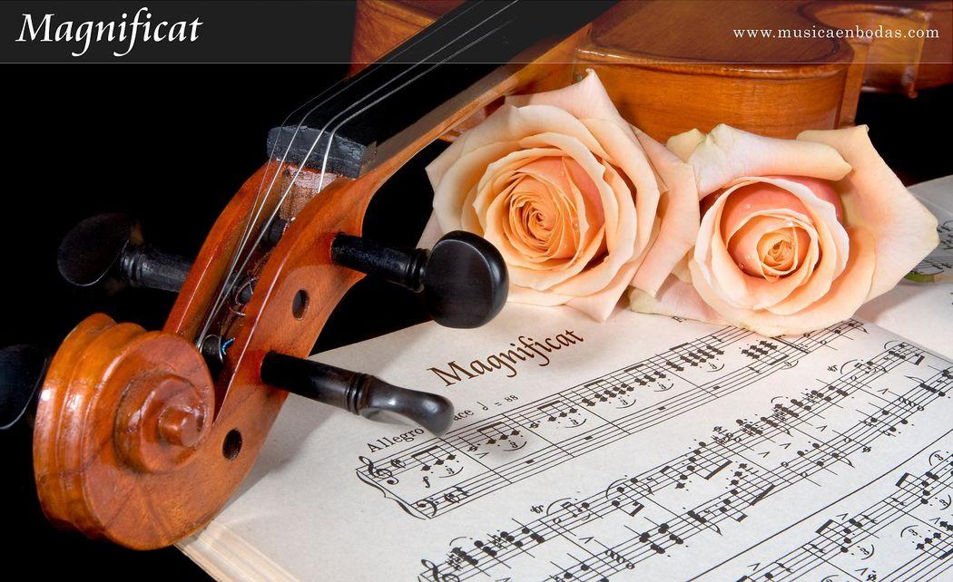Magnificat - Nuestras partituras han sido hechas a medida por el Catedrático de Armonía y Composición del Conservatorio Superior de Música de Madrid, ofreciendo las partituras de mayor nivel del mercado que dan aún más brillo a nuestras intervenciones.