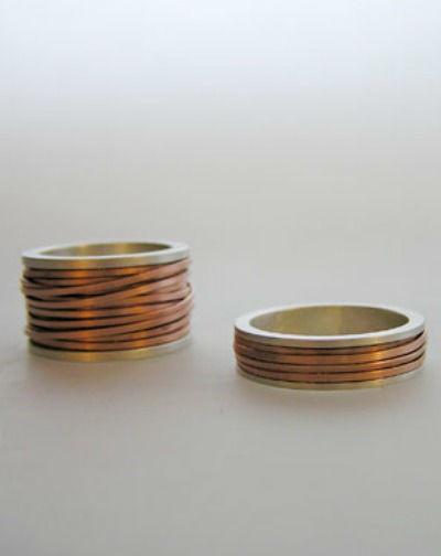 Beispiel: Trauringe - Silber/Kupfer, Foto: detail3.
