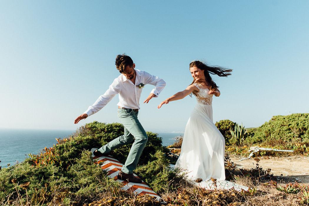 surf style wedding