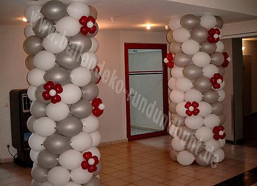 Beispiel: Dekoration mit Ballons, Foto: Ballondeko rund und bunt.