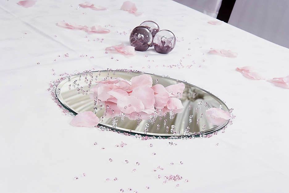 Fée de l'effet - Location Centre de table Miroir rond 25cm, 30cm et 40cm