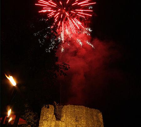 Beispiel: Feuerwerk, Foto: Hofgut Maisenburg.