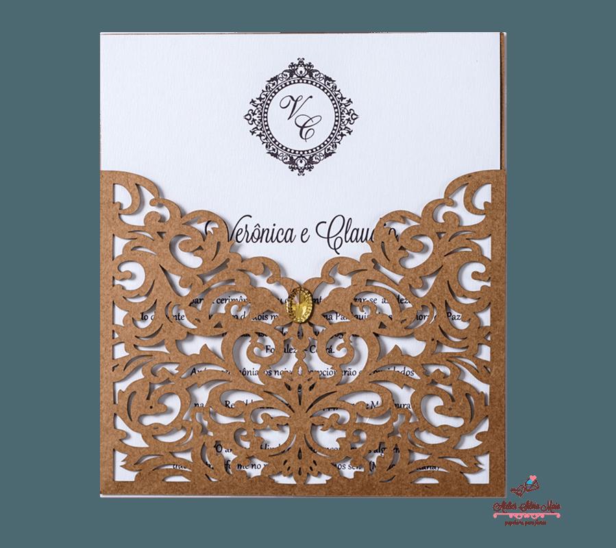 Convite Corte A Laser  - Ref . CL.029