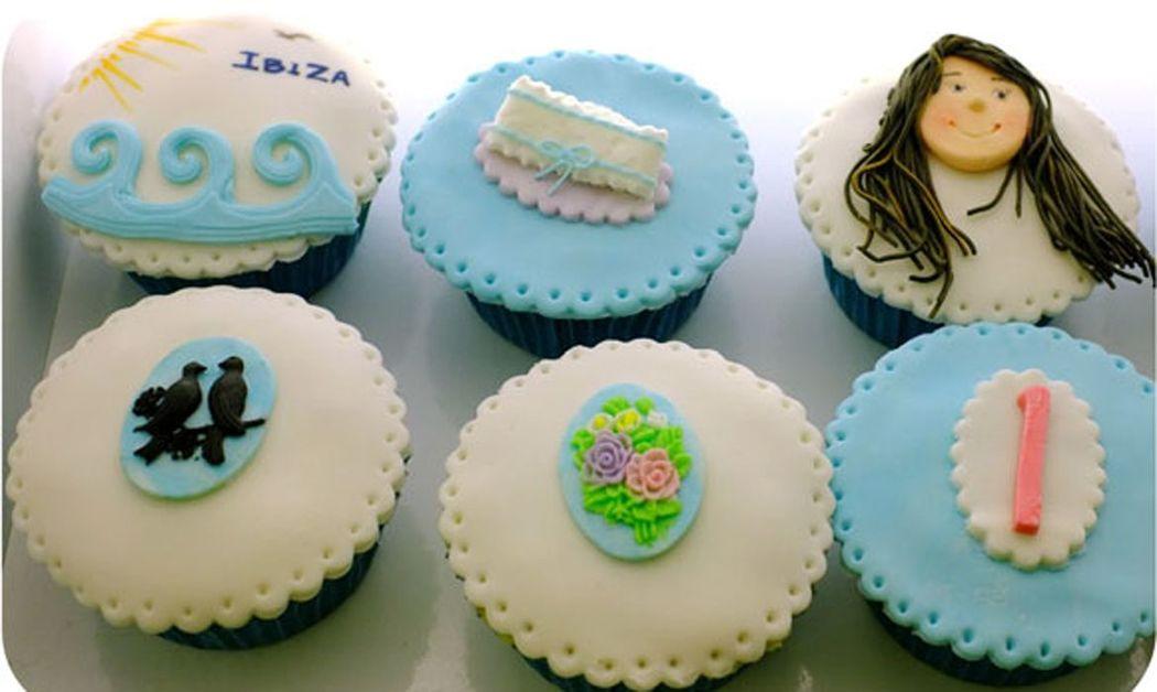 Cupcakes personalizados novia