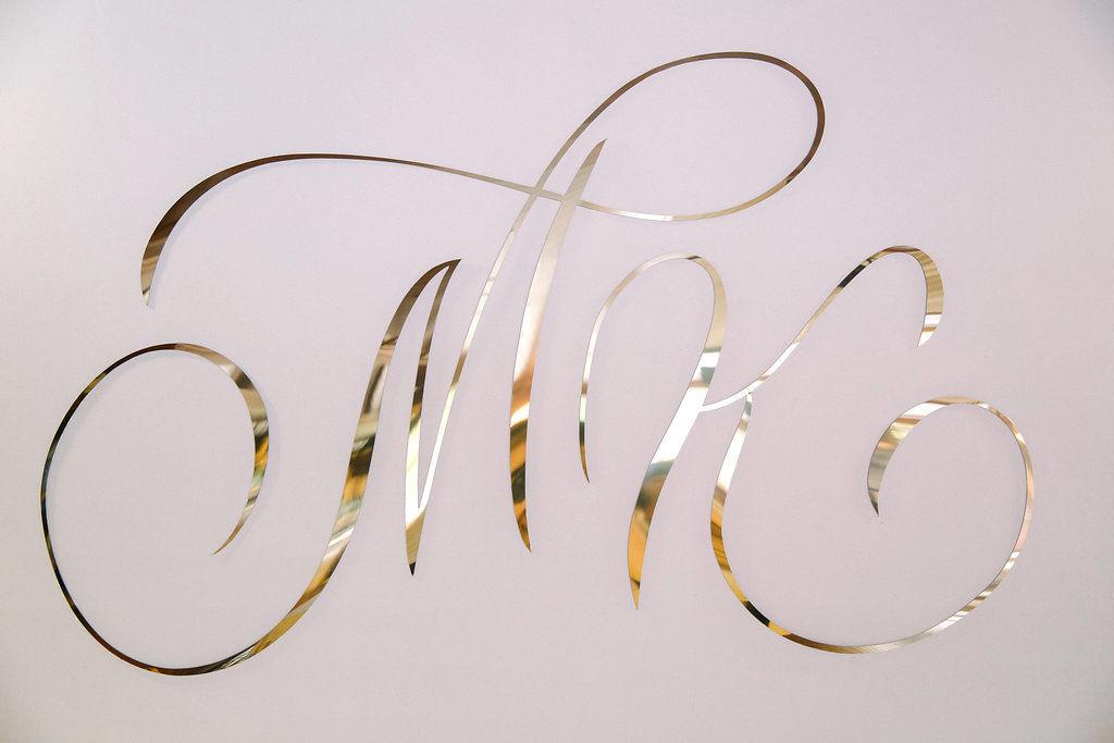 каллиграфия для фотозоны - инициалы