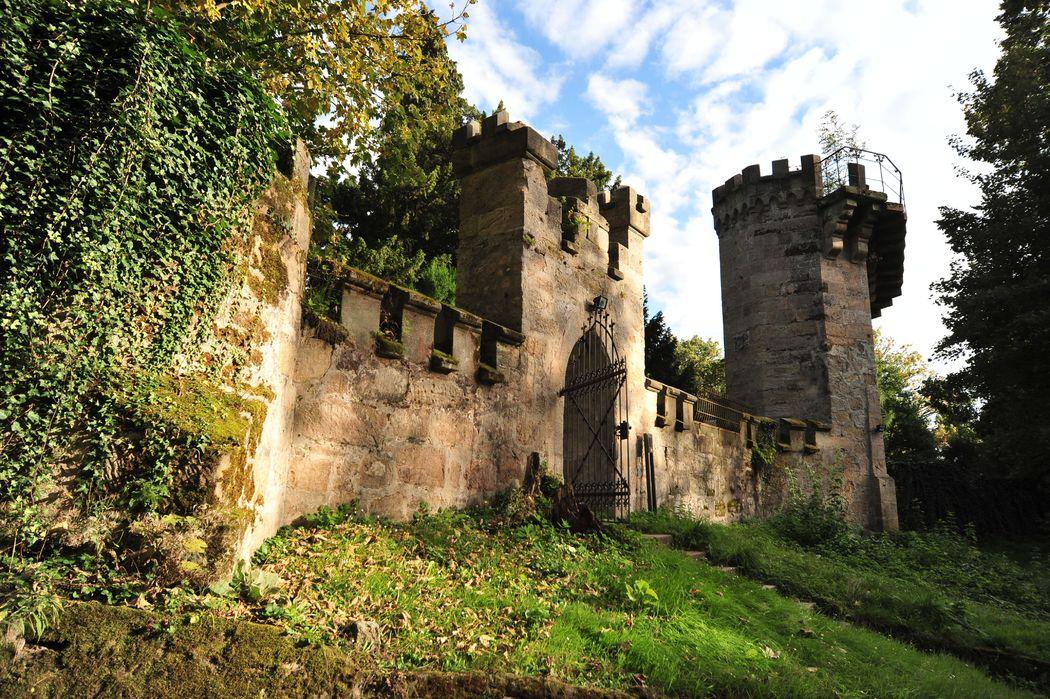 Außenmauer  -Schlosshotel Hohenstein
