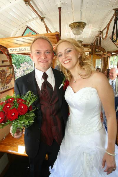 Beispiel: Die Straßenbahn zur Hochzeit, Foto: Rent a Bim.