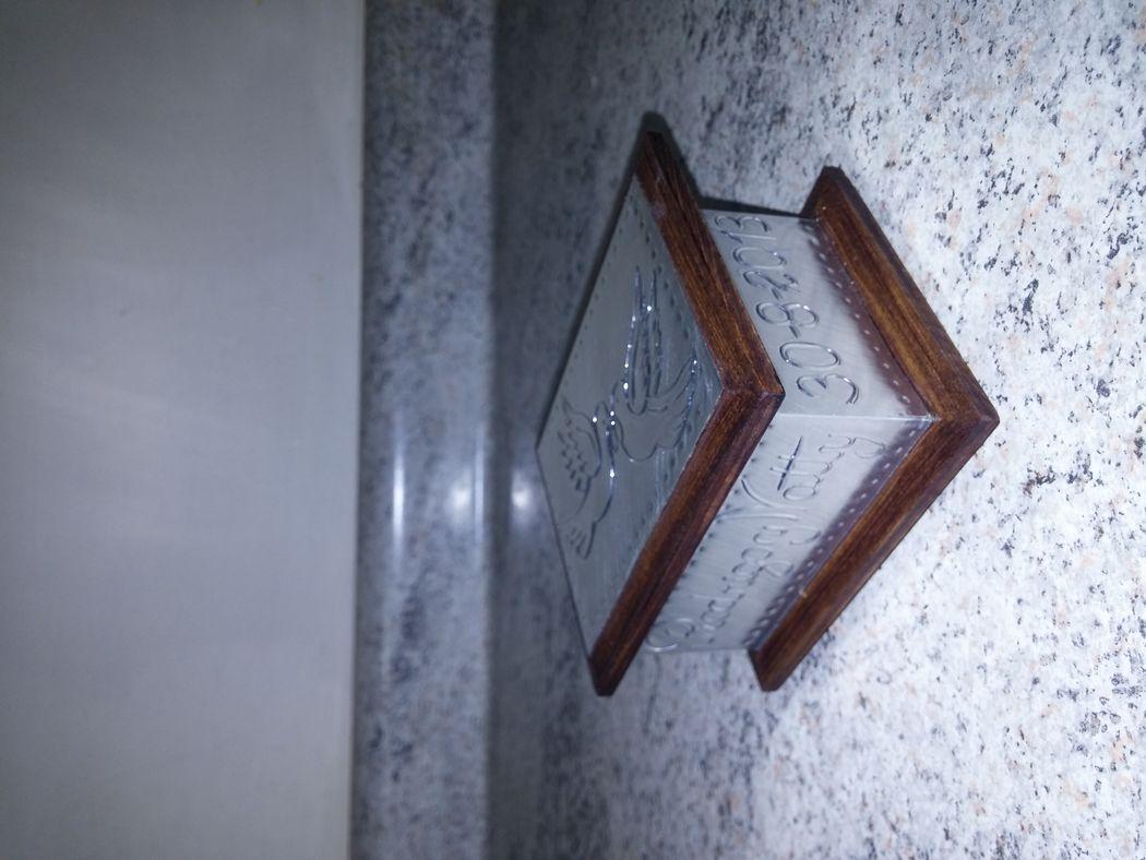 Caja 9x7 cms. palomas, aluminio