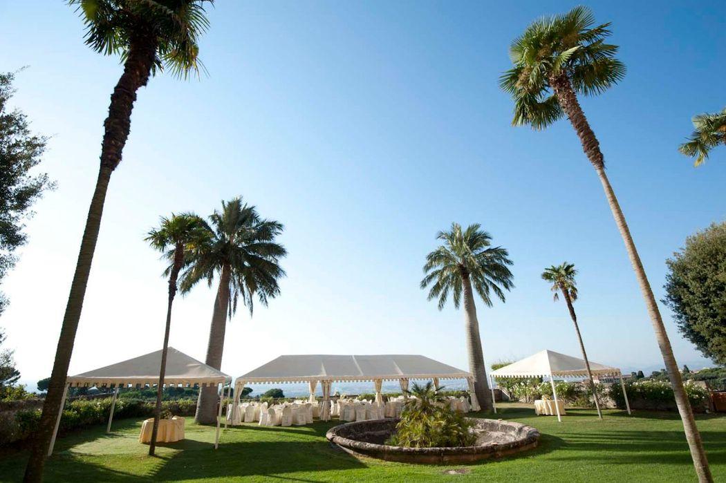 Park Hotel Villa Grazioli: Giardino pensile per il pranzo all'aperto