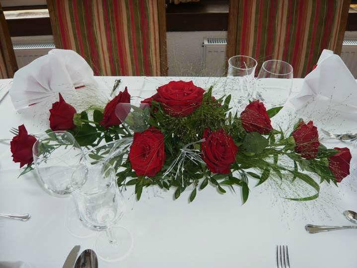 Beispiel: Tischdekoration, Foto: Hotel Rheinsberg am See.