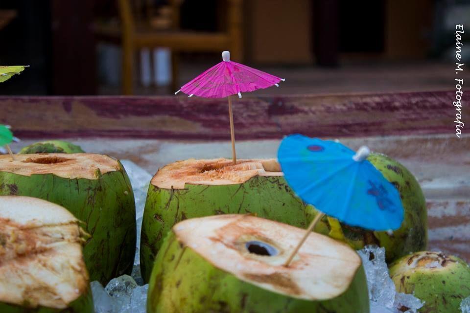 Água de coco.no barquinho