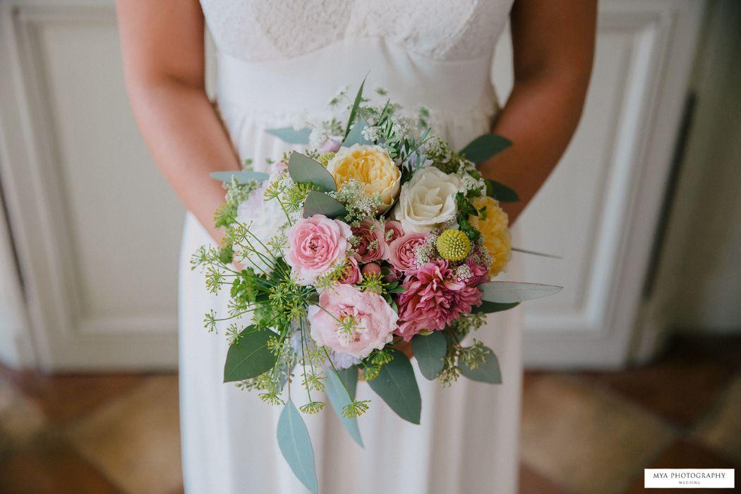 Herbes Fauves - Bouquet de mariée doux et champêtre