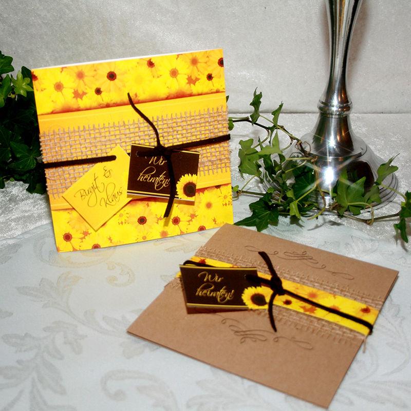 Cela-Design Hochzeitseinladungen Sonnenblumen