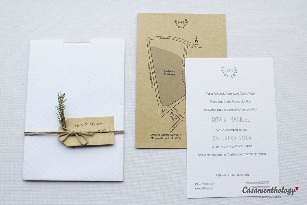 Convite, Mapa e Envelope