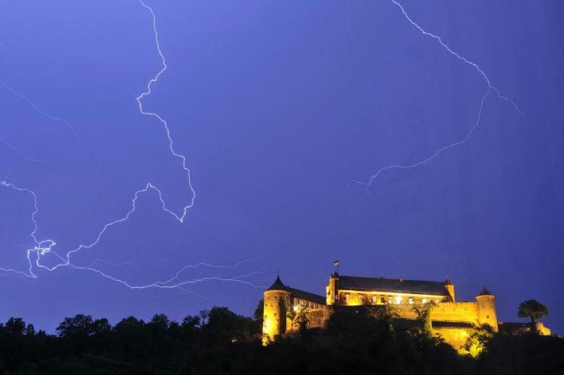 Beispiel: Burg bei Nacht, Foto: Burg Stettenfels.