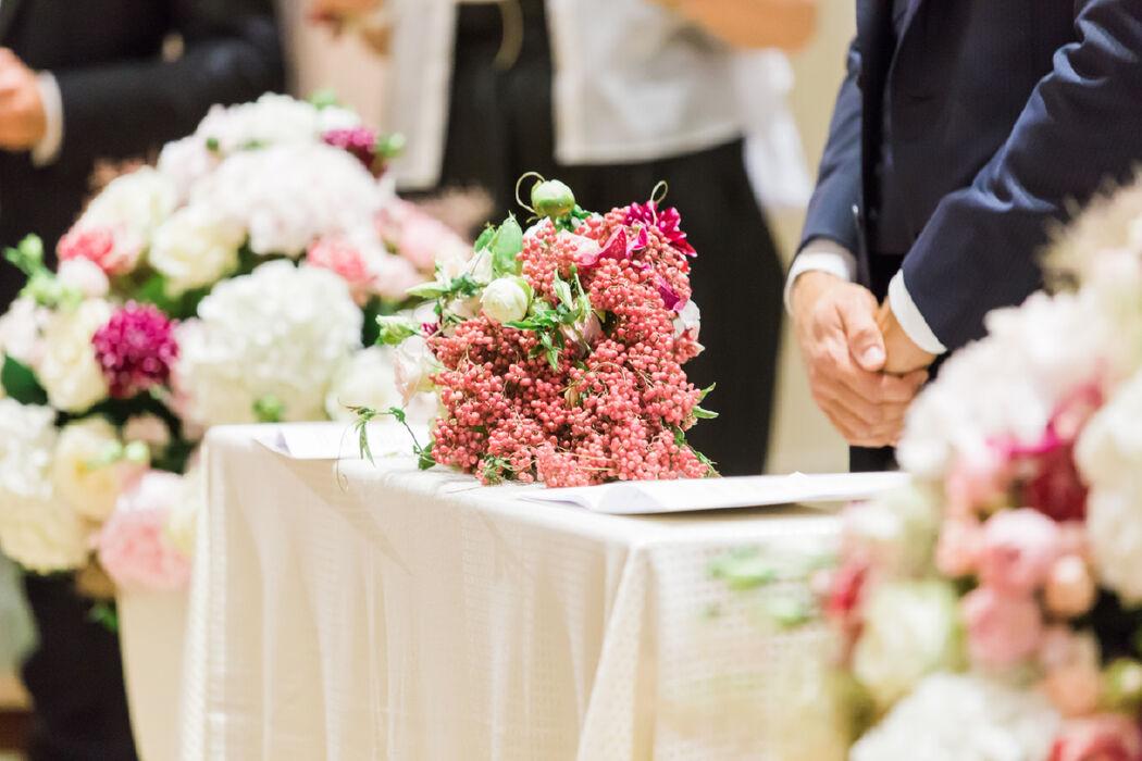 Dettaglio bouquet con bacche