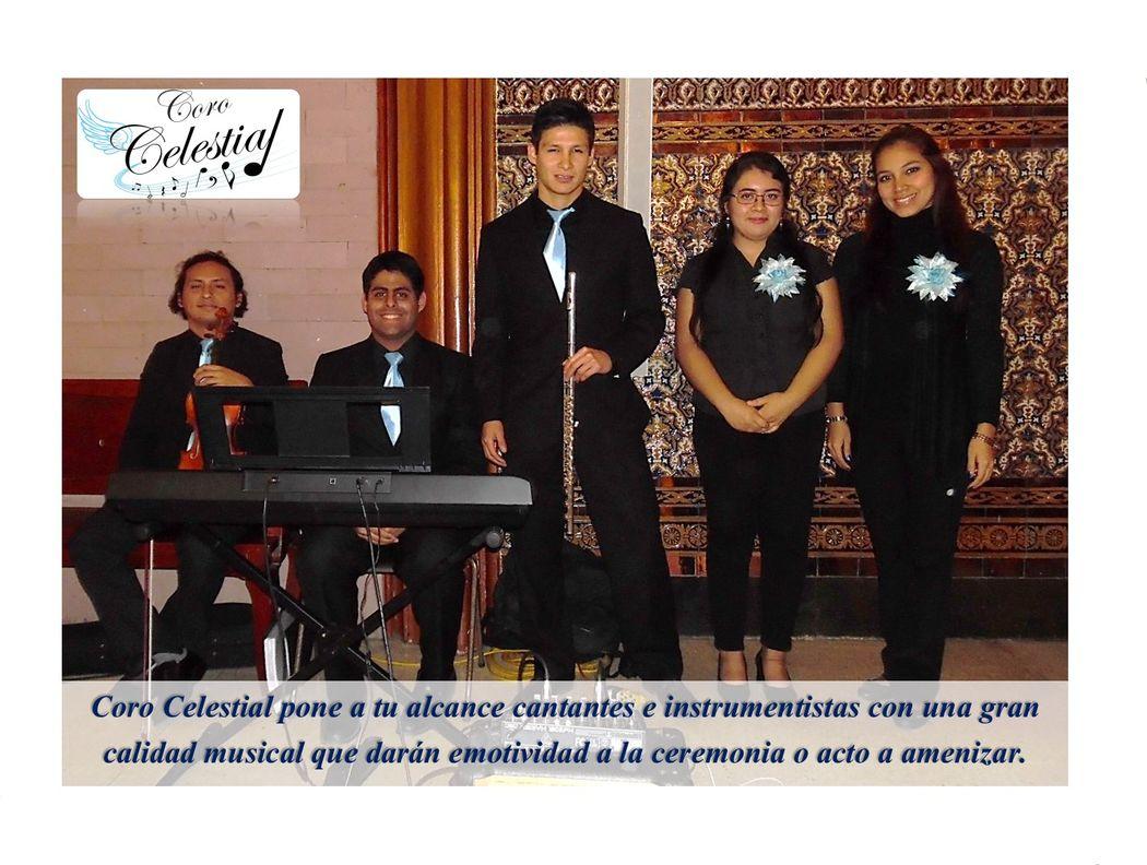 Dúo de voces femeninas, flauta, violín y teclado.
