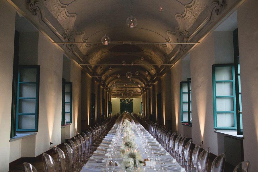 Tavolo imperiale a Villa Bria