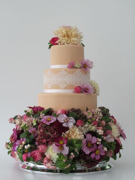 Beispiel: Hochzeitstorte, Foto: Madame Miammiam.