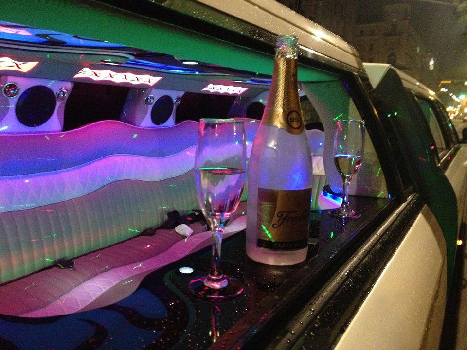 Beispiel: Innenleben der Limousine, Foto: E & M Limousinenservice.