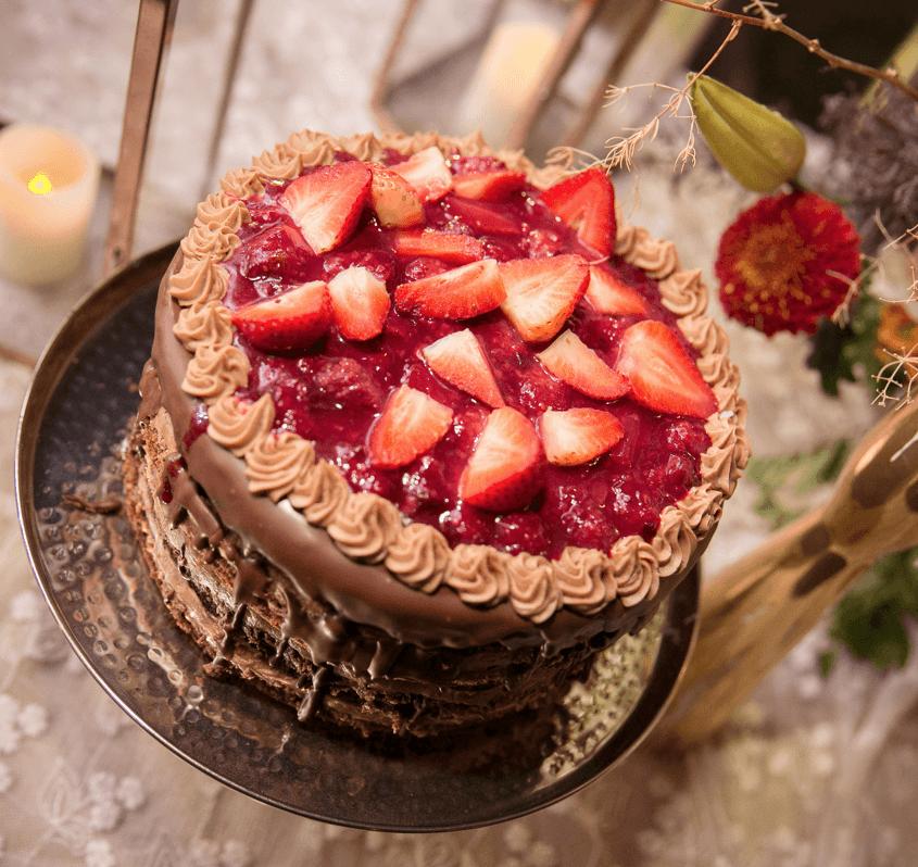 nude chocolate con frutos rojos