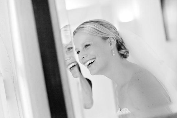 Beispiel: Brautfrisur und Make-up, Foto: Simone Gatzen.