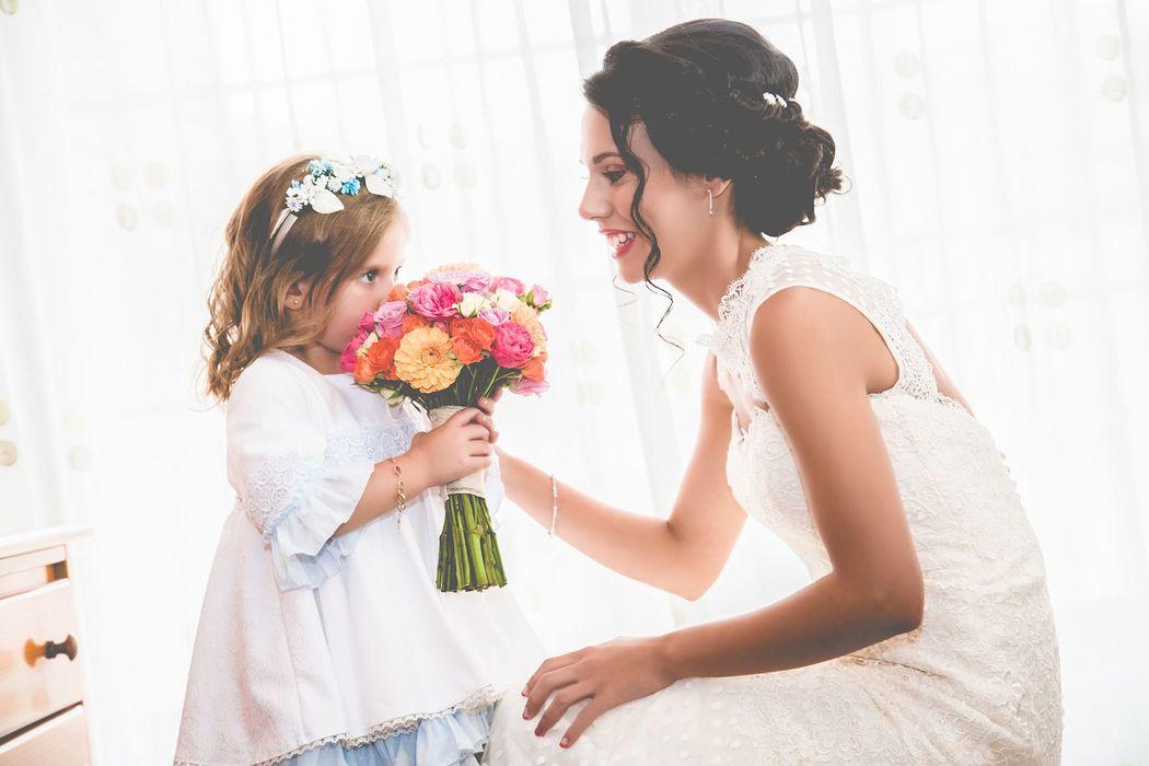 la novia y su hija- OhQueFoto