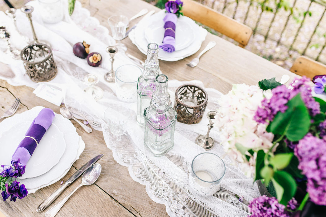 Rugged Lace Wedding, table styling