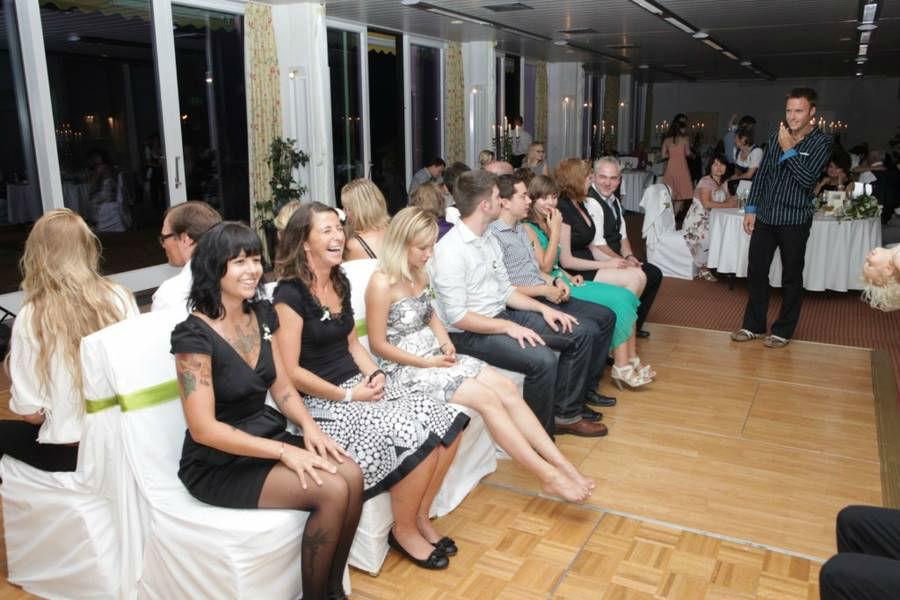 Beispiel: Spieleinlage, Foto: Hochzeits DJ Dany.