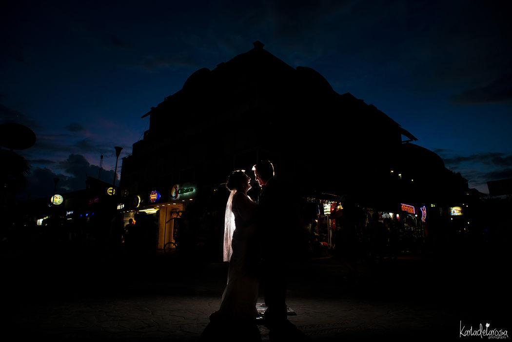 Wedding day Quinta Avenida, Playa del Carmen