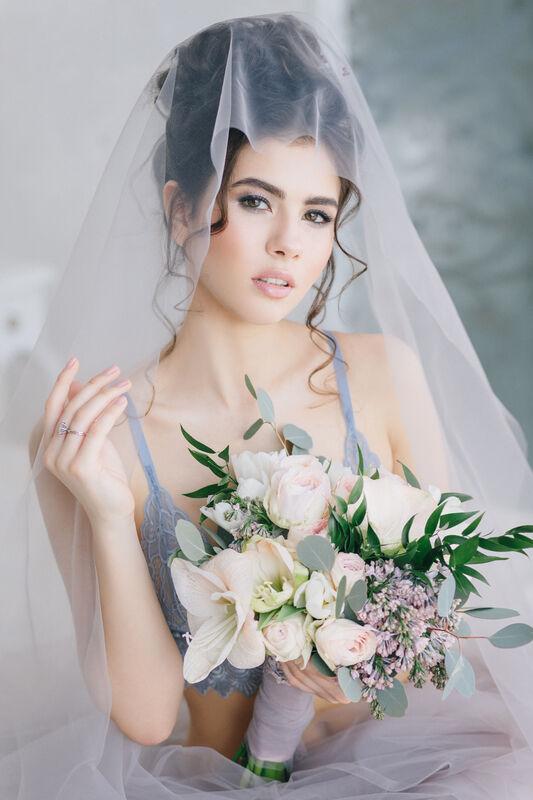 Букет невесты -будуарное утро SWEET LILAC MORNING
