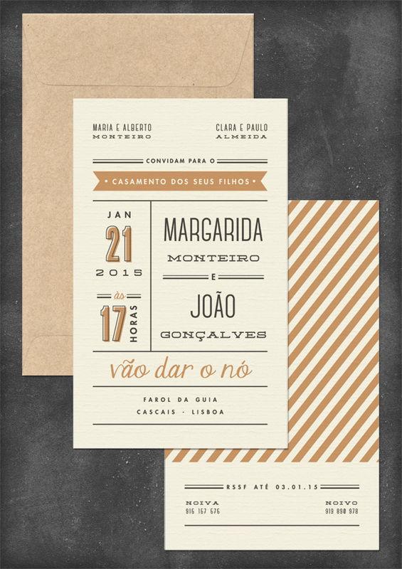Convite casamento Margarida e João