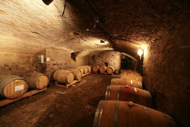Our historical cellars at Villa Medicea di Lilliano