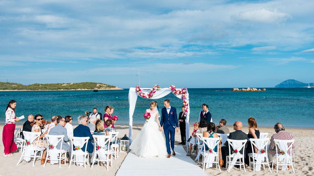Matrimonio in spiaggia Costa Smeralda Sardegna