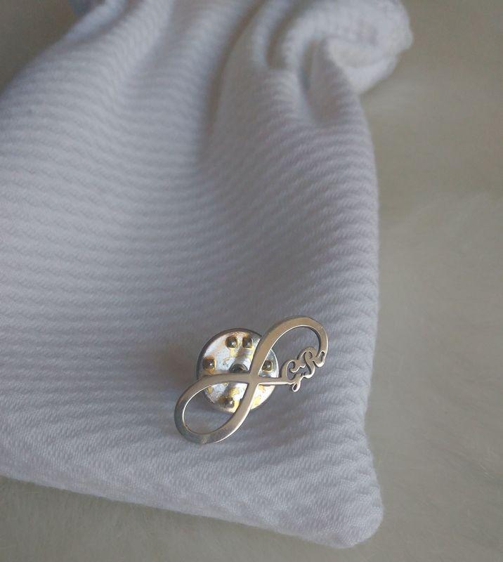 Pin em Prata - Lembrança Pai do Noivo