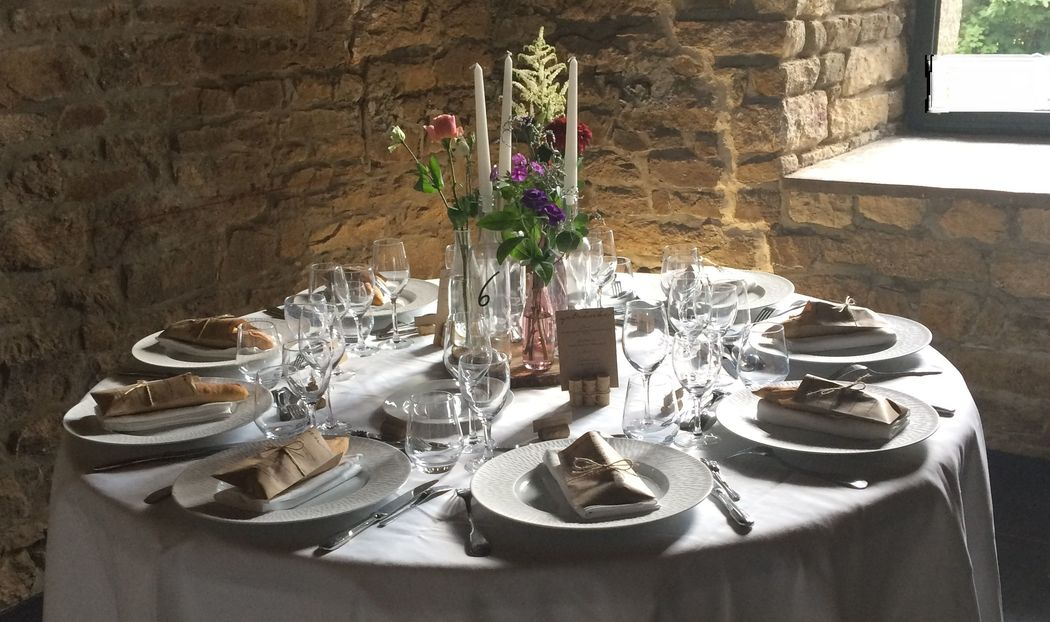 Une table décorée - Mariage franco-allemand 28/07/17
